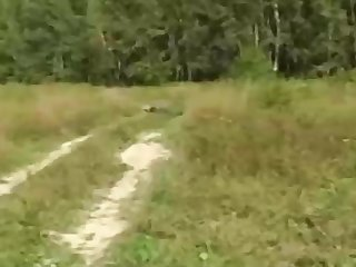 Russian girl is regularly having sly fuckfest in the nature, in the middle of the day