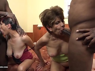 Granny line up interracial fuck the grannies suck black cocks