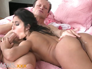 ORGASMS Tanned hungarian beauty loves to whirl his blarney
