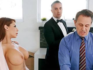 Horn-mad butler is preparing to anal fuck housewife