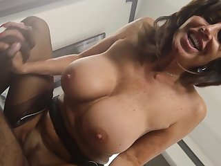 Mature live-in lover deals master's huge black horseshit in rough modes