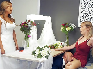 Bridesmaid calm take groom hard sex