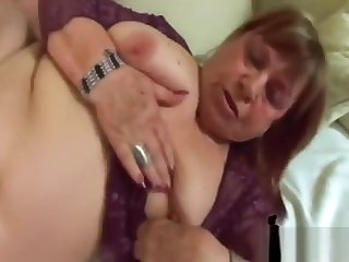 Fat Granny Dominika Takes Long Cock In Pussy