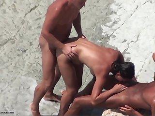Nude beach sharing become man