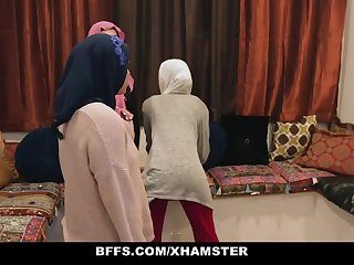 BFFS - Shy Inexperienced Poonjab Girls Turtle-dove In Their Hijabs