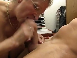 XXX OMAS - Dirty Germany granny takes dick at one's disposal the tryst