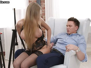 Appetizing big breasted cowgirl Katarina Muti desires to hate analfucked today