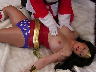 Dropped Santa For Pleasure Woman - busty brunette anastasia pierce in Christmas cosplay