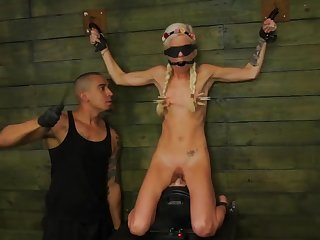 Starved young blonde unworked dominated approximately full BDSM