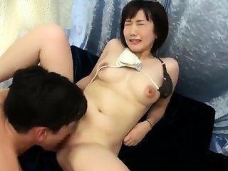 Doggystyle sweet Japanese soul masturbating