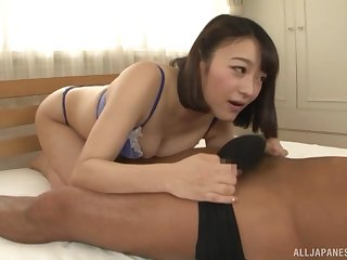 Close up amateur gender at home with nice tits Japanese Nishino Shou