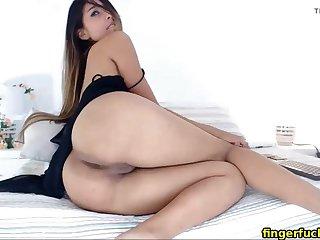 Horny latina having fun fingering on webcam remain true to