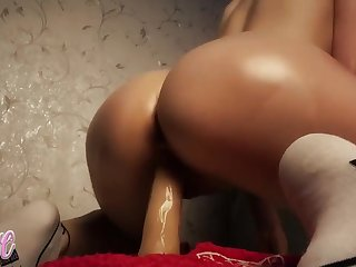 Lovely Britany With Beloved Swag Riding A Dildo Cowgirl Pose